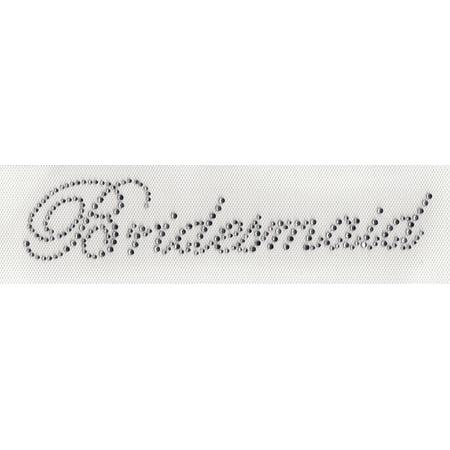 Bridesmaid Wedding Transfer (Bridesmaid Iron On Hot Fix Transfer Rhinestone  8