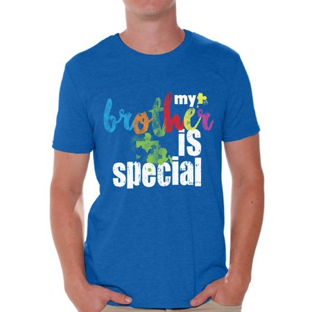 Awkward Styles My Brother Is Special Tshirt for Men Autism Awareness Shirts Autism Puzzle T Shirt Men's Autism Tshirt Family Autism Awareness Autistic Pride Gifts Autism Shirts for Men Autism Support