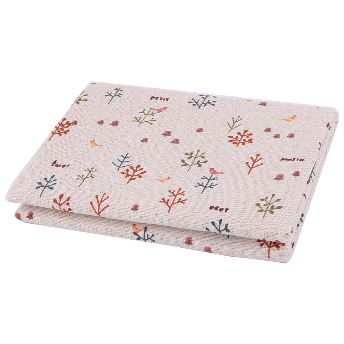 Unique BargainsHome Decor Linen Tree Pattern Tablecloth Book Sofa Cover DIY Fabric 1.55M Length