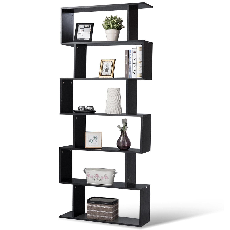 6tier Modern Bookcase Wall Shelf Ladder Bookshelf Storage