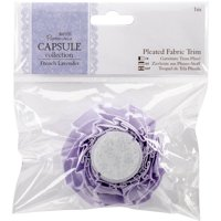 Papermania French Lavender Pleated Fabric Trim, 1m