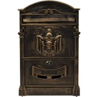 ALEKO USMB-05 Elegant Wall Mounted Mail Box with Retrieval Door, 2 Keys and Bolts