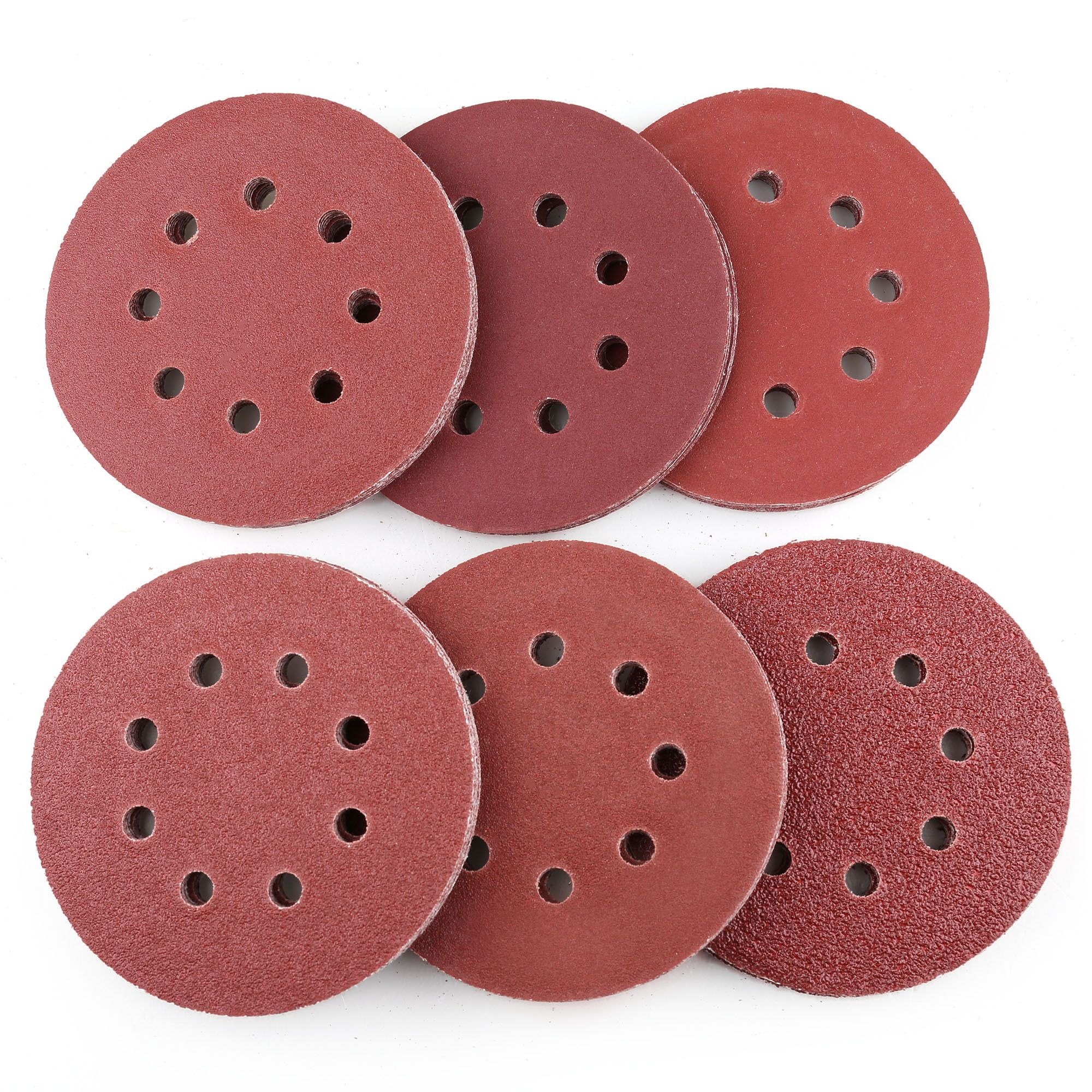 30 PCS,Yellow MAXMAN 5-Inch 8-Hole Sanding Discs,Dustless Hook and Loop,Premium Abrasive Aluminum Oxide Orbital Sandpaper 1000 Grit