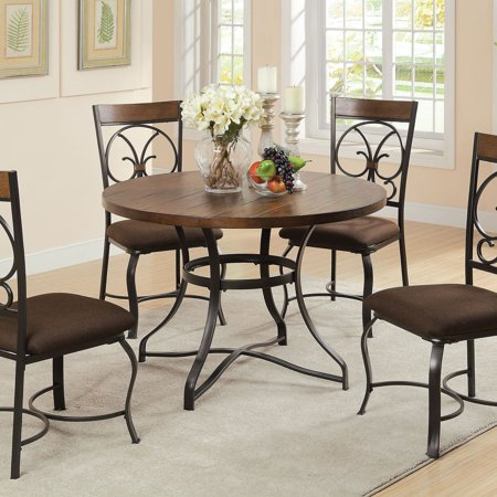 ACME Jassi Dining Table, Dark Cherry & Antique Black
