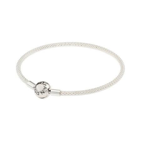 5d3002964 PANDORA - Mesh bracelet in sterling silver w/titanium core Bracelet 19 cm  596543-19 - Walmart.com