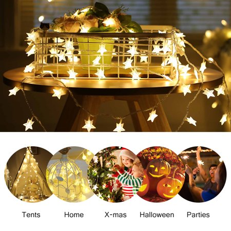 Battery Operated Led String Lights Ejoyous 6m 19ft 40 star Shape LED Lights Fairy Decorative Li,led string lights](Lights For Decorations)