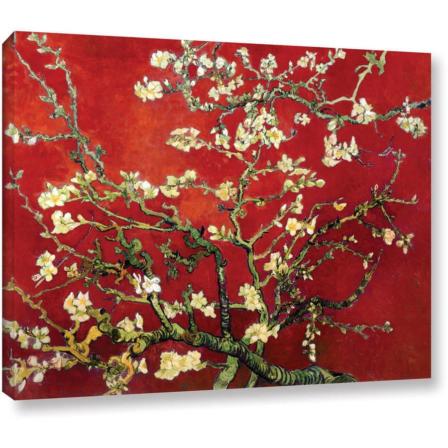 """Vangogh """"Red Blossoming Almond Tree"""" Canvas"""