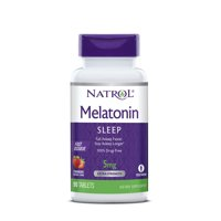 Natrol Melatonin Fast Dissolve Tablets, Strawberry flavor, 5mg, 90 Count