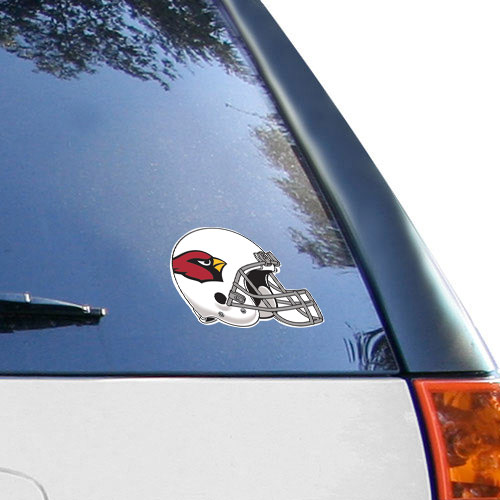 Arizona Cardinals 4.5'' x 6'' Team Helmet Ultra Decal Cling - No Size