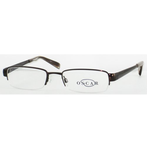 "Allure Eyewear Men's ""O"" By Oscar Semi-Rimless Contemporary Design Glasses"