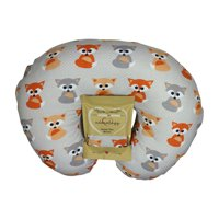 Nursing Pillow Slipcover Baby Gray Foxes Design Maternity Breastfeeding Newborn Infant Feeding Cushion Cover Case Baby Shower Gift for New Moms (Pillow Not Included)