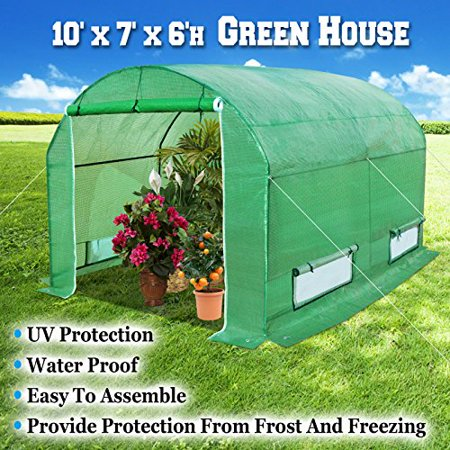 Sunrise 10'X7'X6' Large Walk In Outdoor Plant Gardening Greenhouse on outdoor office, outdoor supplies, outdoor garage, outdoor tools, outdoor pool house, outdoor technology, outdoor tea house, outdoor nursery, outdoor photographer, outdoor hotel,