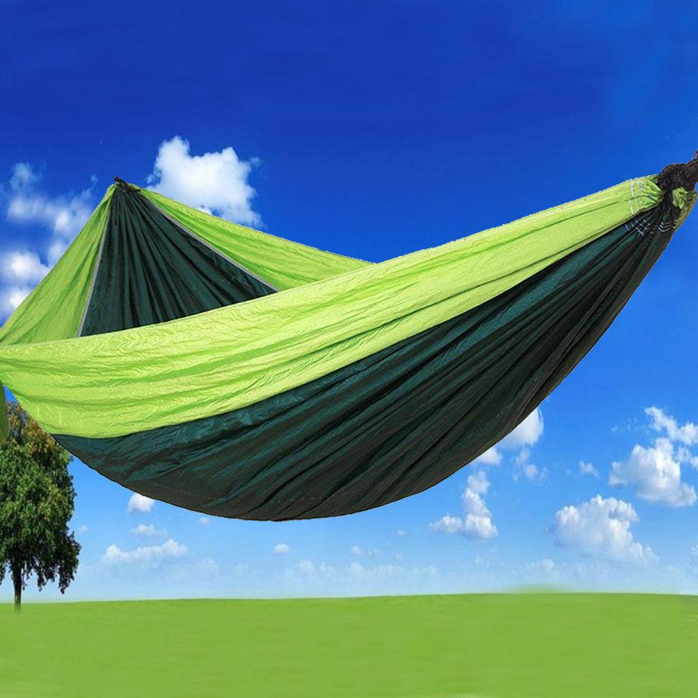 Ediors Single/Double Outdoor Hammocks Ultralight Portable Nylon Parachute Hammockw/Attached Stuff Sack