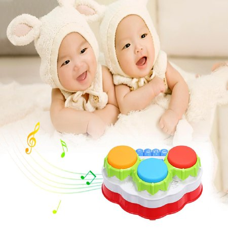 Tuscom Hand Drum Toy Three Button Drum Music Piano Gift For One Year Old
