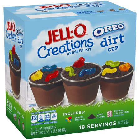 JELL-O 30.3 OZ DRY PACKAGED DESSERT 3 BOX/CARTON BUNDLE PACK - Jello Pudding Halloween Desserts