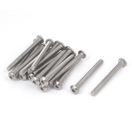 M4x40mm 304 Stainless Steel Hex Socket Countersunk Round Head Screw Bolts 20PCS - image 1 of 1