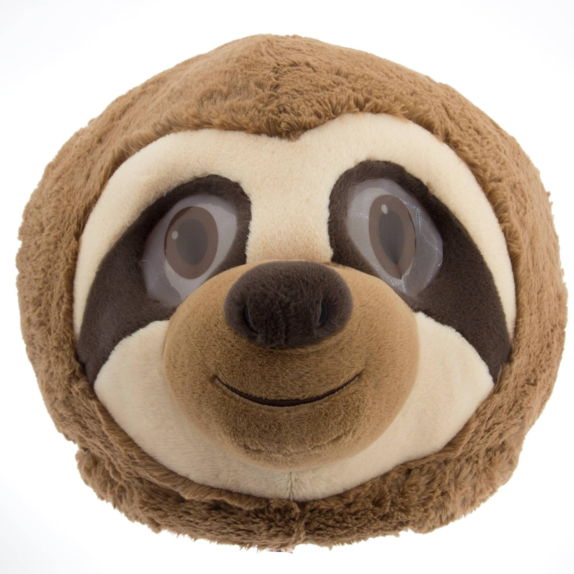Sloth Maskimal Adorable Large Plush Head Mask Accessory