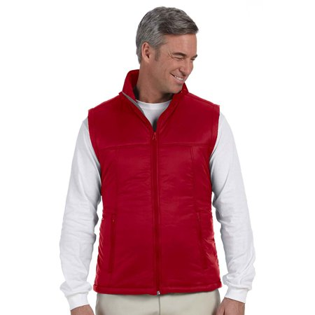Harriton M795 Mens Nylon Polyfill Vest - Red - X-Large