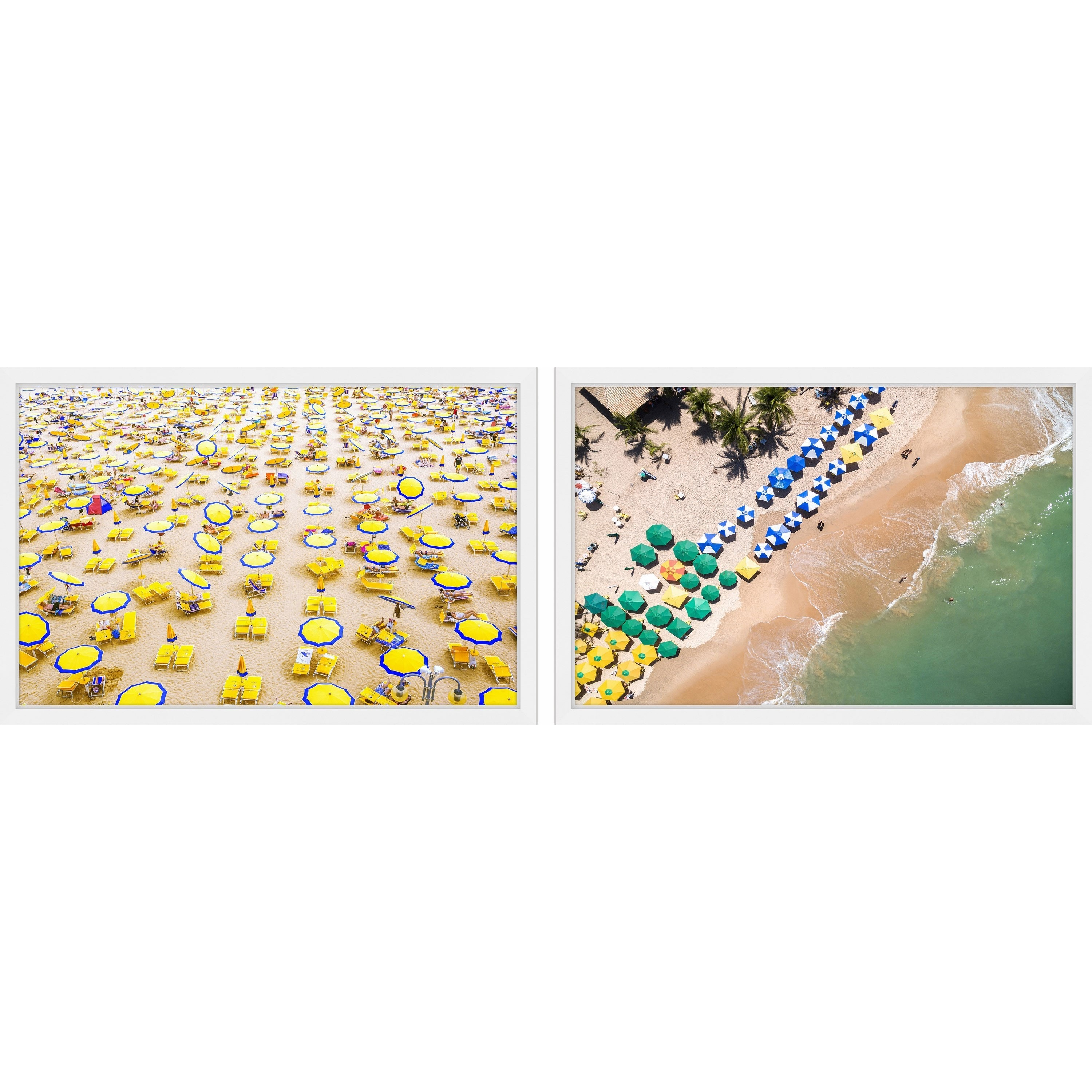 Beach Umbrellas Diptych by Marmont HIll