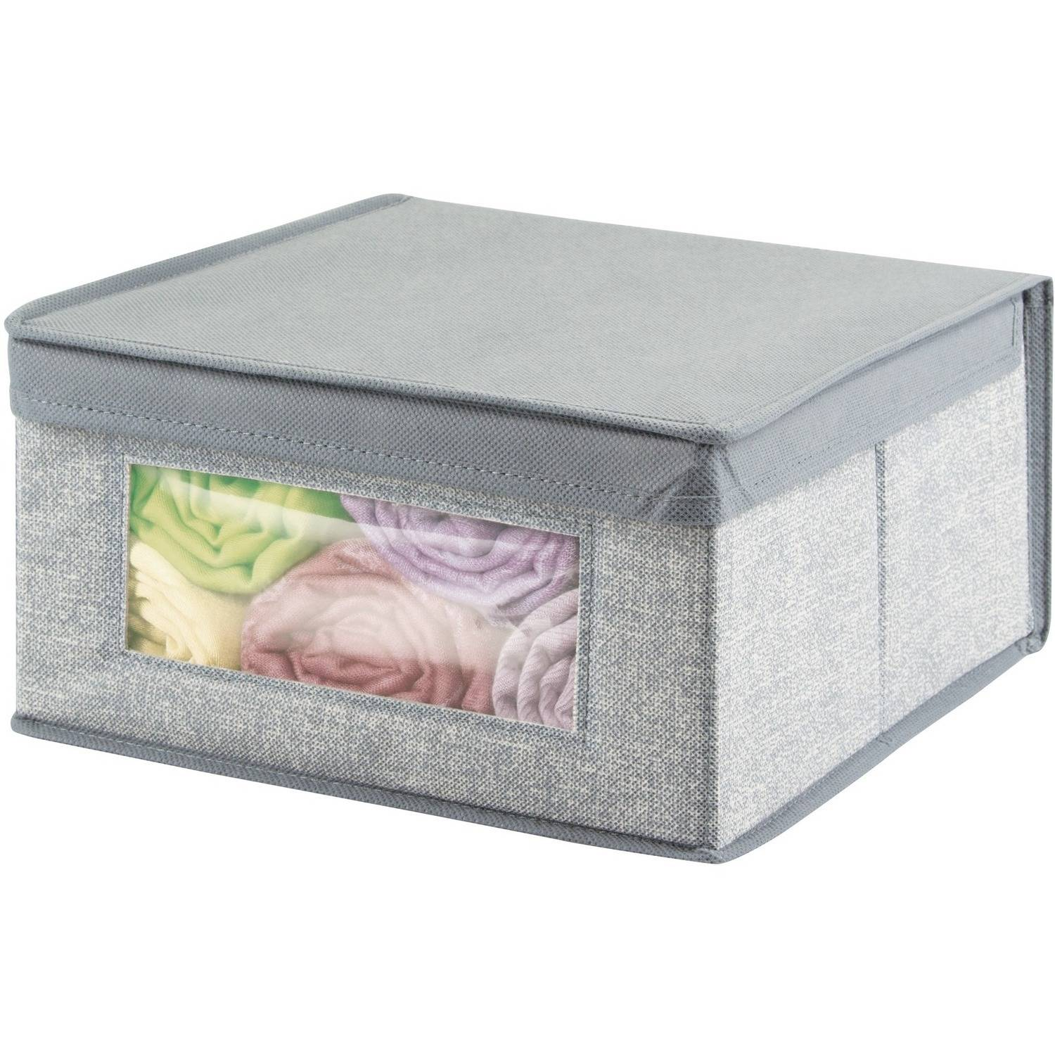 InterDesign Aldo Fabric Storage Box Various Sizes Grey  sc 1 st  Walmart.com : storage box sizes  - Aquiesqueretaro.Com