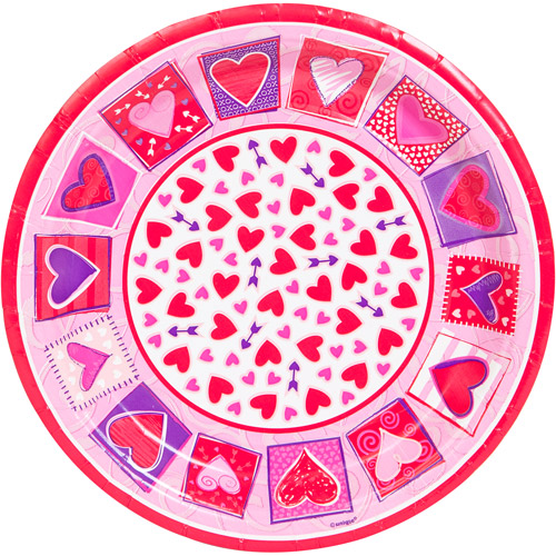 "7"" Sweethearts Valentine Dessert Plates, 8-Count"