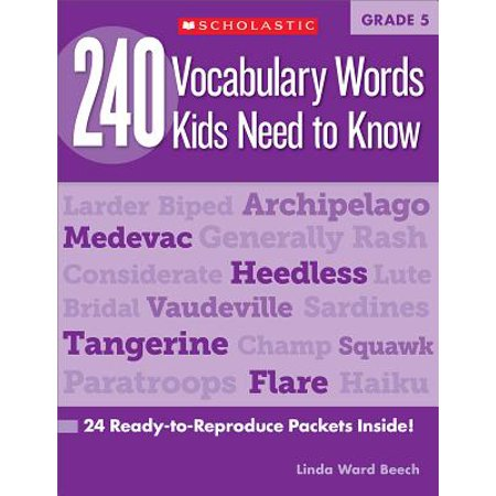 Halloween Vocabulary Words Esl (240 Vocabulary Words Kids Need to Know: Grade 5 : 24 Ready-To-Reproduce Packets)