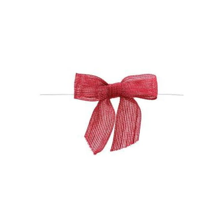 Floral Ships Bow (Red Burlap Pre Tied Bows, 12 per pack By Retail Resource Ship from US )