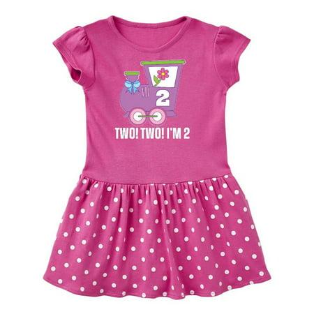 2nd Birthday Cute Train I'm Two Toddler Dress Flower Baby Train