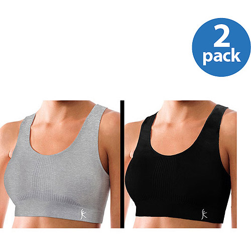 Danskin Now - Seamless Sport Bras, 2-Pack-Medium Impact