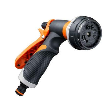 - High Pressure Garden Hose Nozzle Hand Sprayer 8 Pattern Adjustable Car Wash Hose Household Garden Water Spray Nozzle