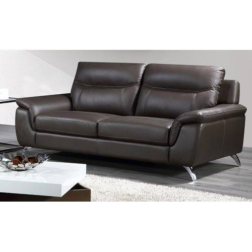 Cortesi Home Chicago Leather Sofa