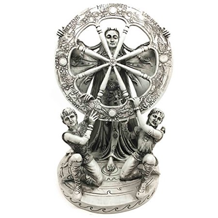 Cosmic Wheels (Celtic North Star Moon Goddess Of Rebirth Arianrhod Figurine Cosmic Wheel Of The Year Time & Fate Weaver Statue)