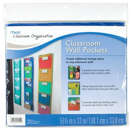 Mead Teacher Supplies 5 Pack Wall, Blue (Teachers Store)