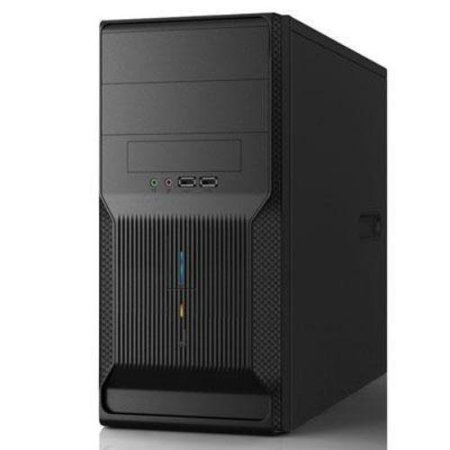 In Win EN028 Computer Case - Mini-tower - Black - 5 x Bay - 1 x 350 W - Power Supply Installed - Micro ATX Motherboard Supported - 2 x External 5.25