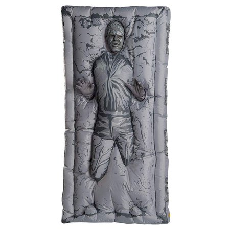 Han Solo Costume Shirt (Star Wars Classic Mens Inflatable Han Solo In Carbonite Halloween)