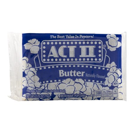 Act Ii Butter Microwave Popcorn  2 75 Oz
