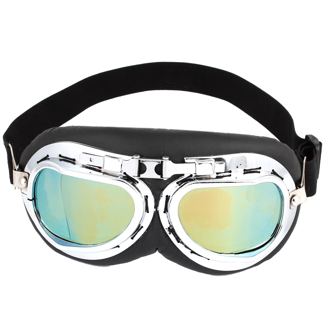 Motorcycle Motorbike Driving Full Frame Yellow Lens Protective Goggles Glasses