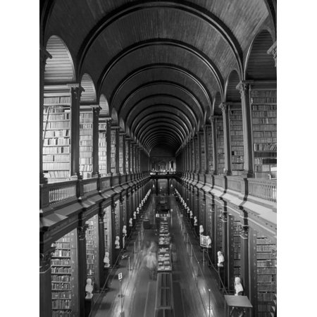 Gallery of the Old Library, Trinity College, Dublin, County Dublin, Eire (Ireland) Print Wall Art By Bruno Barbier