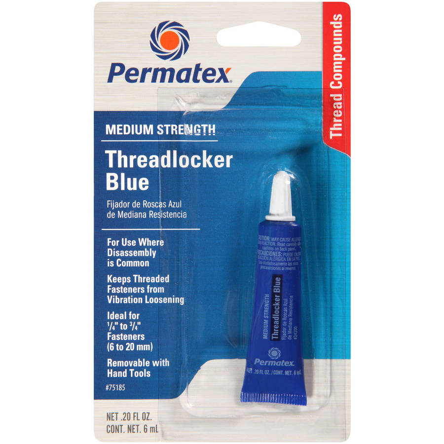Permatex Medium Strength Threadlocker, Blue - 75185