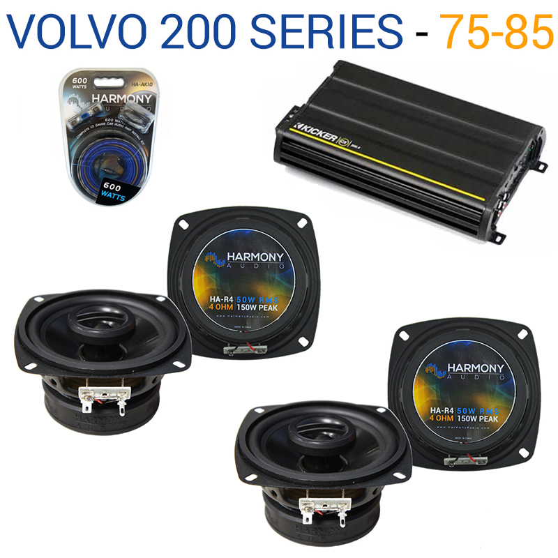 Volvo 200 Series 1975-1985 OEM Speaker Replacement Harmony (2) R4 & CX300.4 Amp - Factory Certified Refurbished