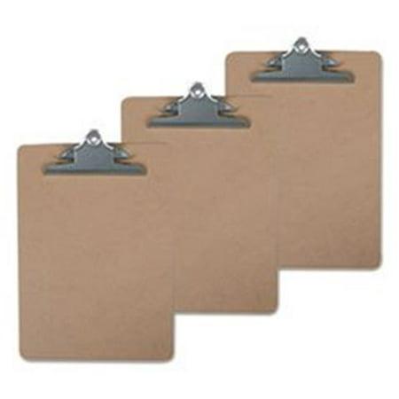 UNV Hardboard Clipboard, Brown - 8.5 x 11 in. - Pack of 3 - image 1 of 1