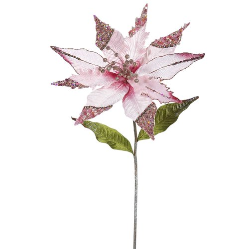 The Holiday Aisle Poinsettia Artificial Christmas Stem (Set of 3)