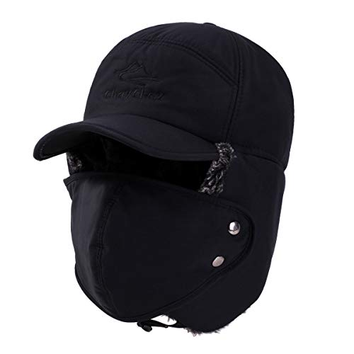 Boys Spiderman Hat Warm Winter Kids Character Faux Fur Lined Trapper Ski Hat