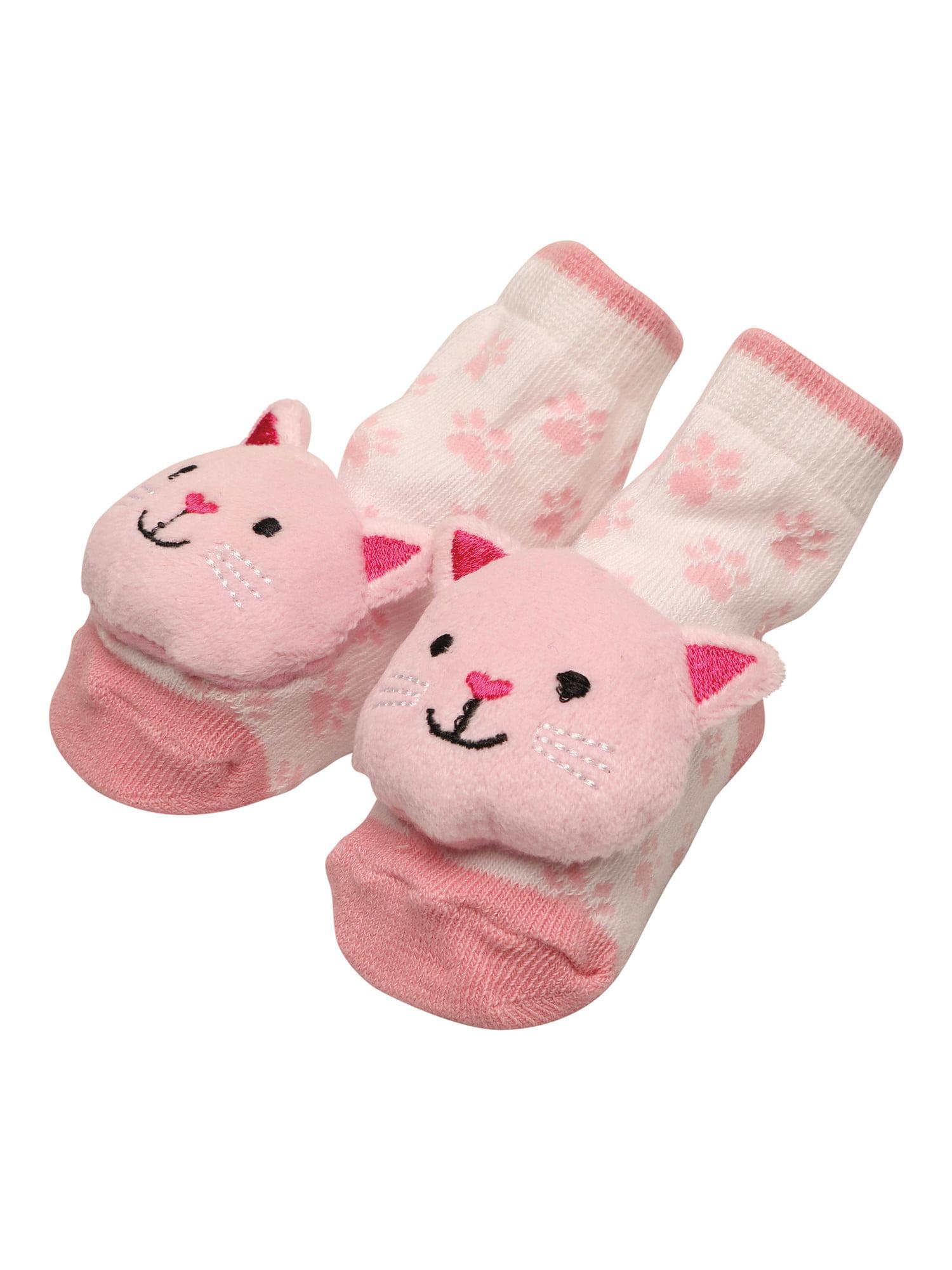 C.R. Gibson Rattle Toe Infant Socks