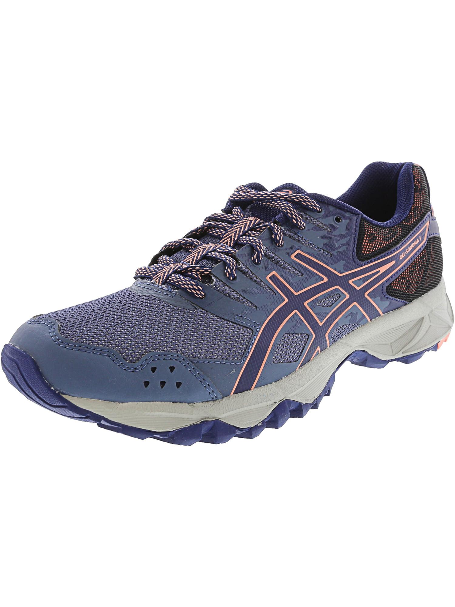 ASICS Asics Women's Gel Sonoma 3 Smoke Blue Indigo Begonia Pink Ankle High Running Shoe 8.5M