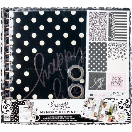 Happy Planner 12-Month Big Planner Box Kit-Happy Life (Ecosystem Life Planner)