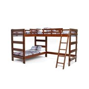 Woodcrest  Heartland Collection L-shaped Twin or Futon Bunk Bed with Extra Loft