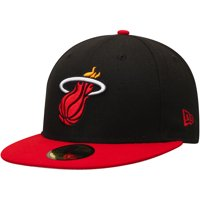 Miami Heat New Era Official Team Color 2Tone 59FIFTY Fitted Hat - Black/Red