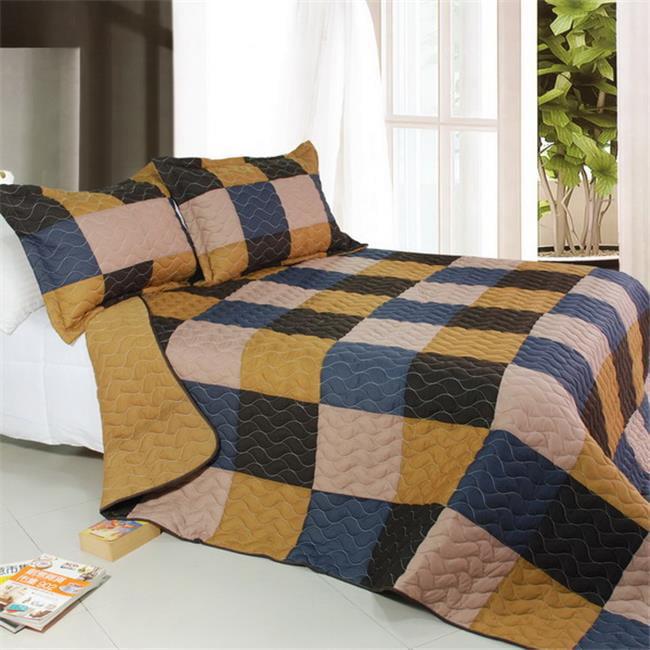 Blancho Bedding QTS01013-23 Antique Chic 3 Piece Full/Queen Vermicelli Patchwork Quilt Set
