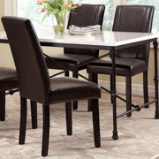 A Line Furniture Ramiro Dark Rustic Metal with Marble-like Table Top 5-piece Dining Set